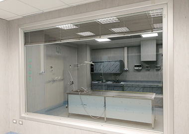 Autopsy room for Covid-19